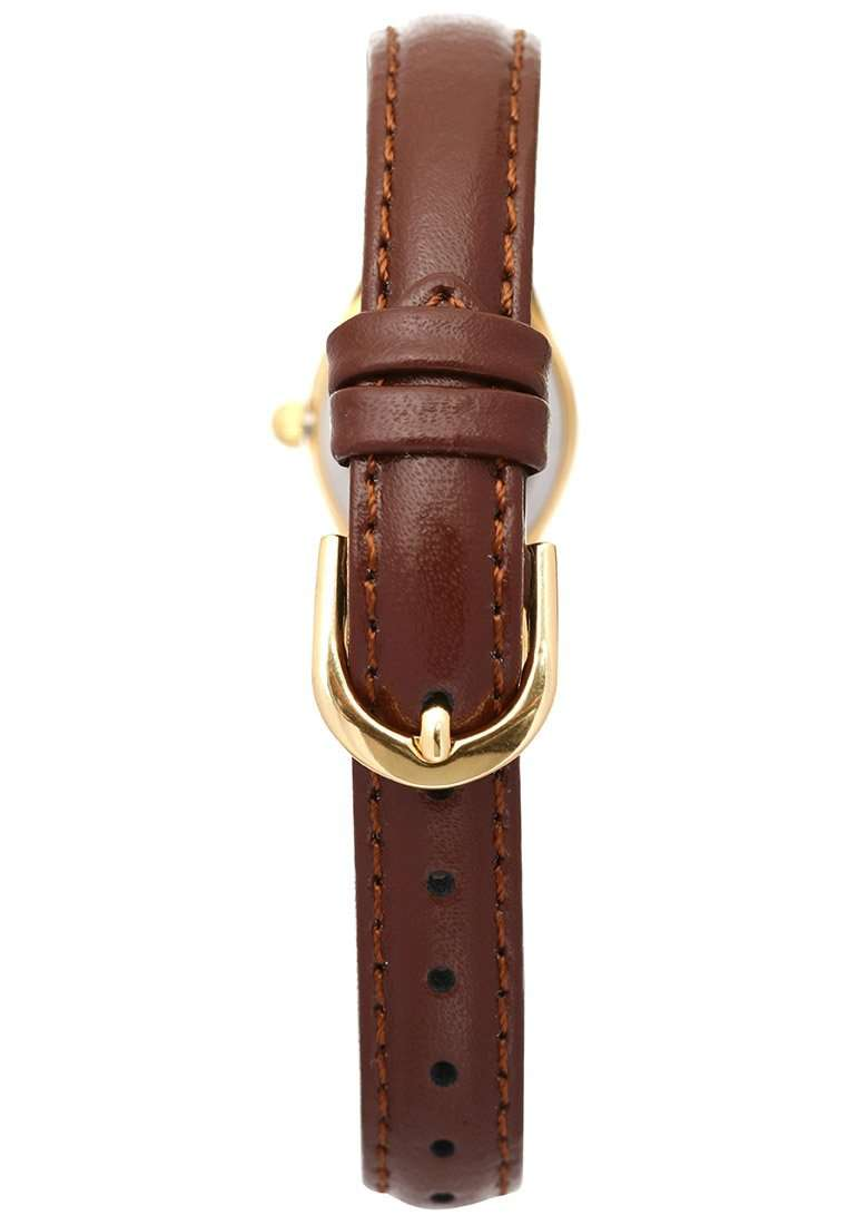 Casio LTP-1094Q-7B8RDF Brown Leather Strap Watch for Women