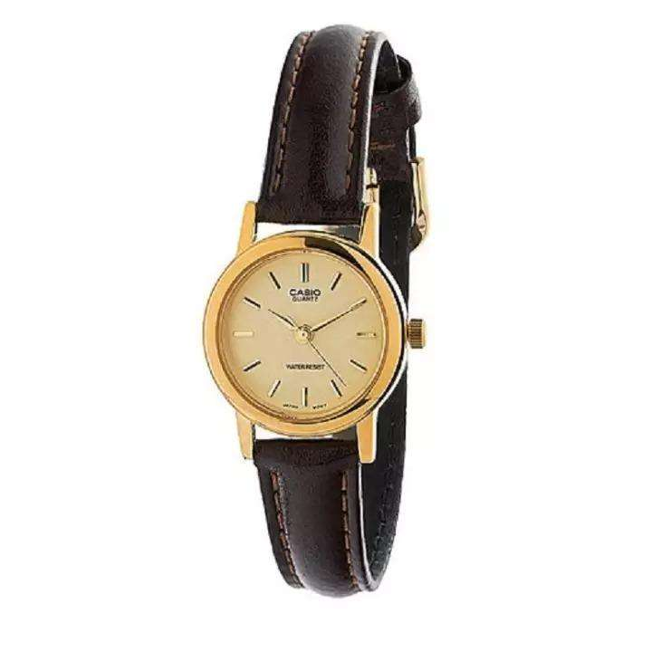 Casio LTP-1095Q-9AD Brown Leather Strap Watch for Women