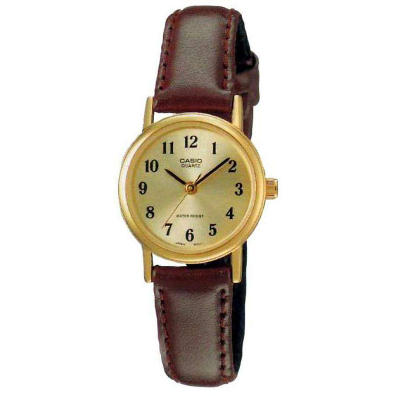 Casio LTP-1095Q-9B1D Brown Leather Strap Watch for Women