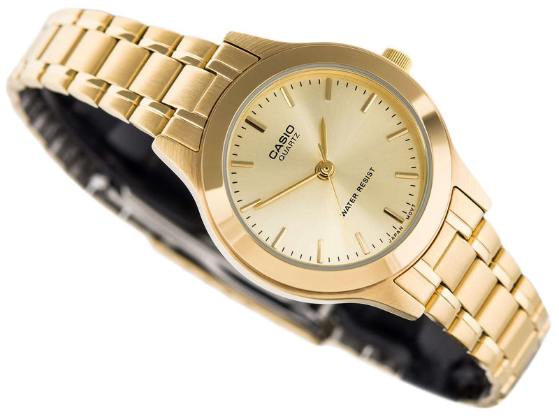 Casio Vintage LTP-1128N-9ARDF Women's Gold Stainless Watch for Women
