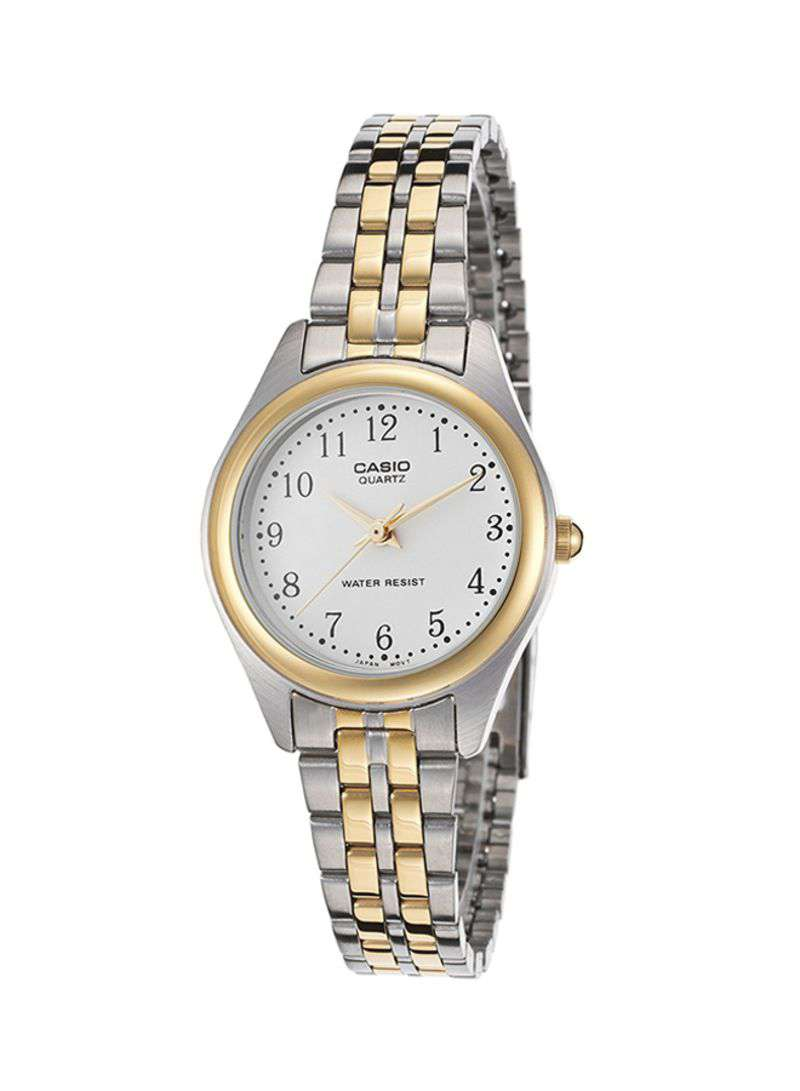 Casio Vintage LTP-1129G-7BRDF Silver & Gold Stainless Watch for Women