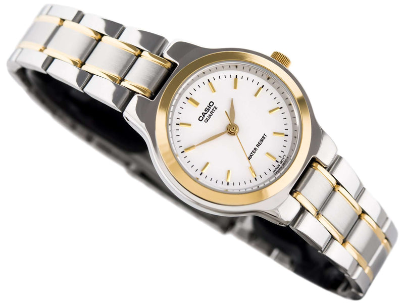 Casio Vintage LTP-1131G-7ARD Silver & Gold Stainless Watch for Women