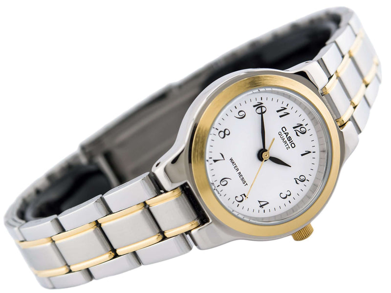 Casio Vintage LTP-1131G-7BRDF Silver & Gold Stainless Watch for Women