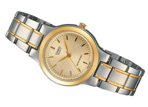 Casio Vintage LTP-1131G-9A Silver & Gold Stainless Steel Strap Watch for Women