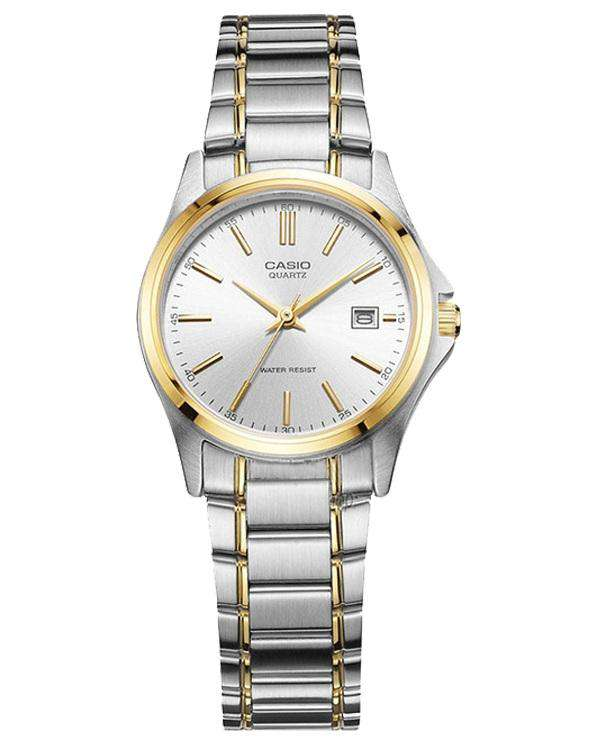 Casio Vintage LTP-1183G-7A Silver/Gold Plated Watch for Women