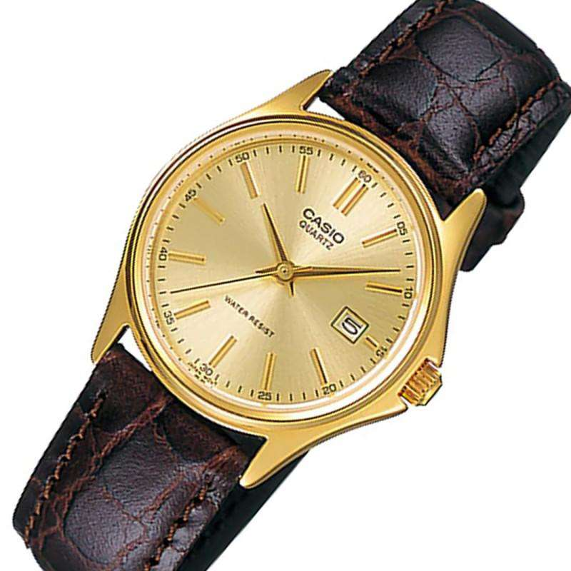 Casio LTP-1183Q-9A Brown Leather Strap Watch for Women