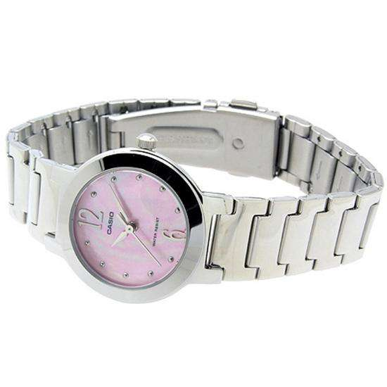 Casio LTP-1191A-4A1 Silver/Pink Stainless Steel Watch for Women