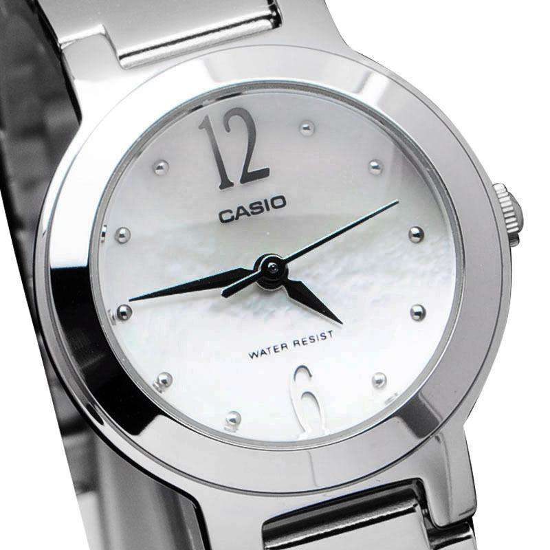 Casio LTP-1191A-7ADF Silver Stainless Steel Strap Watch for Women