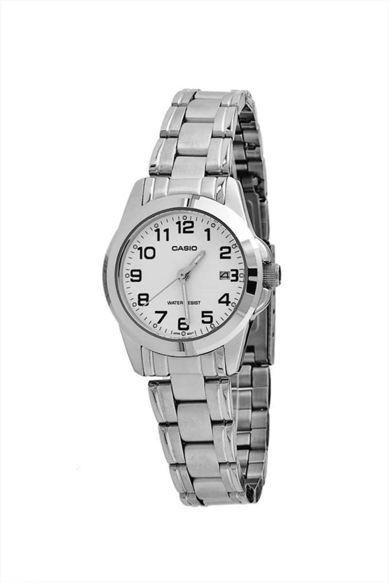 Casio LTP-1215A-7B2DF Silver Stainless Steel Strap Watch for Women