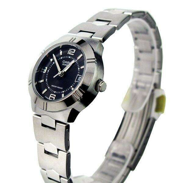 Casio LTP-1241D-1ADF Silver/Black Stainless Steel Strap Watch for Women