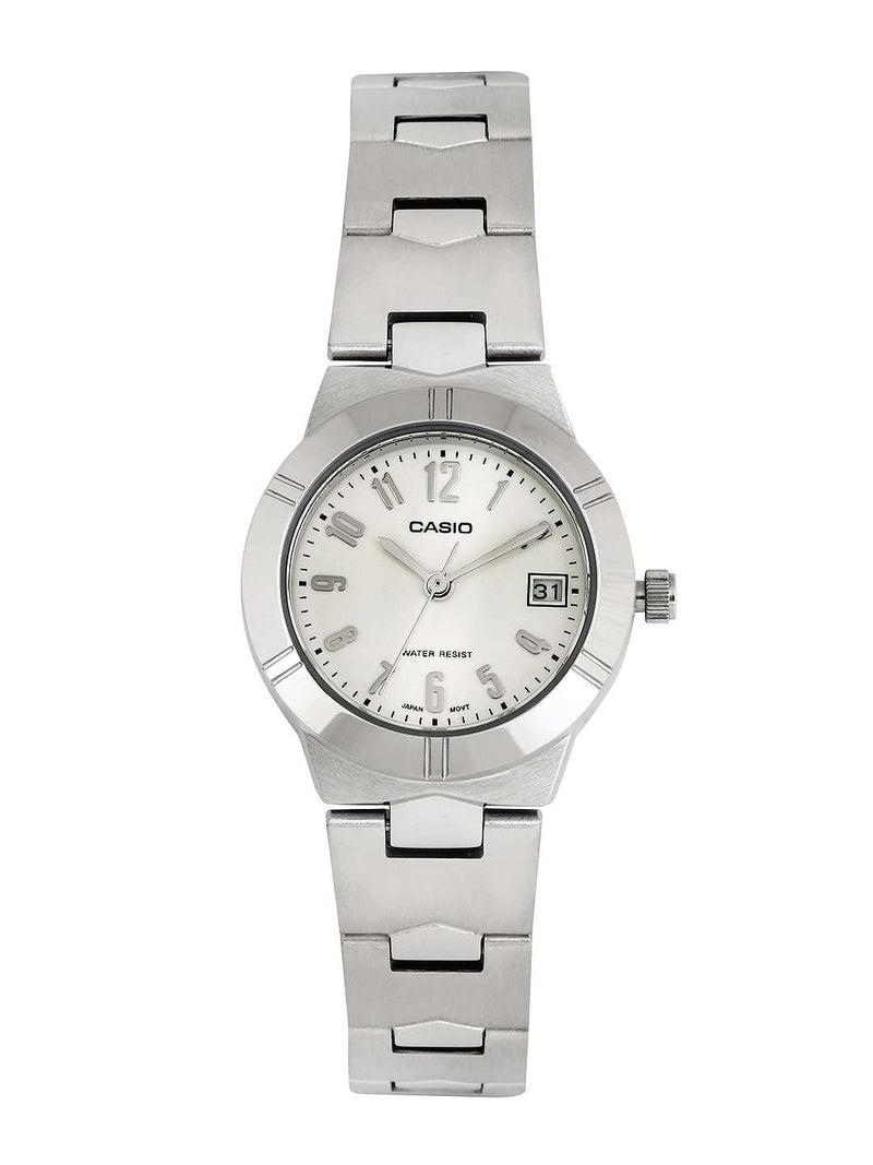 Casio LTP-1241D-7A2DF Silver Stainless Steel Strap Watch for Women