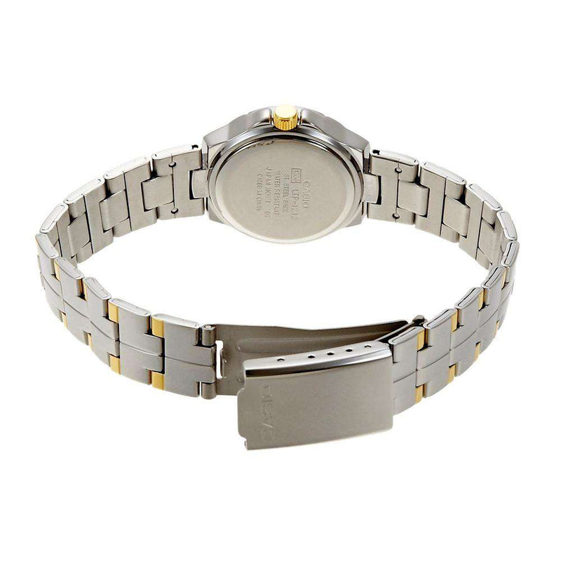 Casio LTP-1242SG-9C Two Tone Gold Dial Watch for Women
