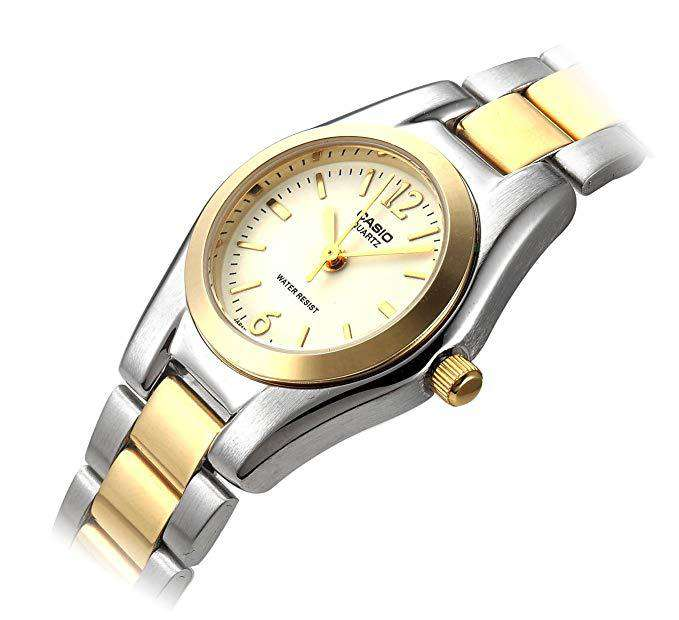 Casio LTP-1253SG-7A Two Tone Stainless Steel Watch for Women
