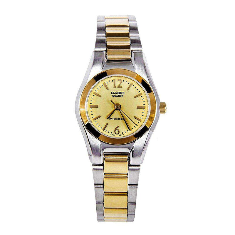 Casio LTP-1253SG-9A Two Tone Stainless Steel Watch for Women