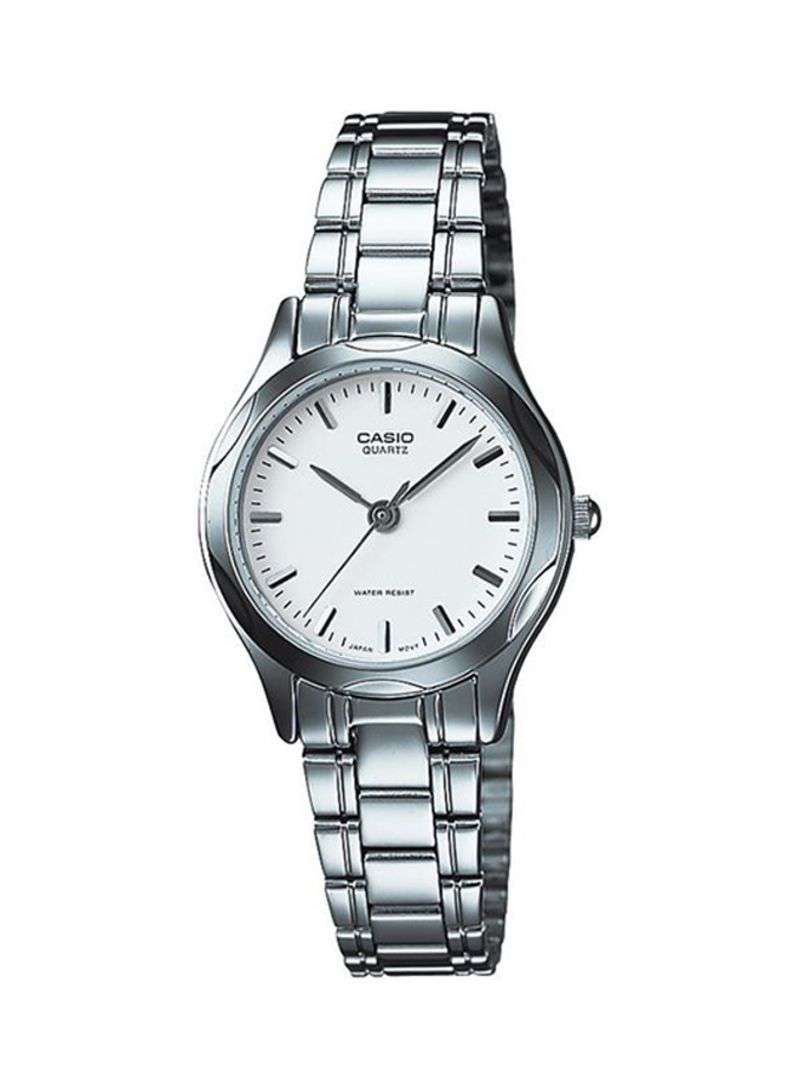 Casio LTP-1275D-7ADF Silver Stainless Steel Strap Watch for Women