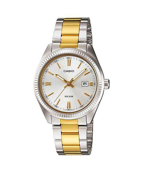 Casio LTP-1302SG-7AVDF Two Tone Stainless Steel Strap Watch for Women