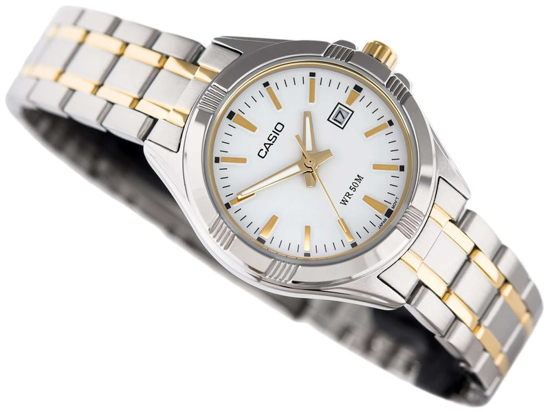 Casio LTP-1308SG-7AVDF Two-tone Stainless Steel Strap Watch for Women