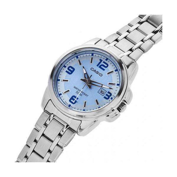 Casio LTP-1314D-2AVDF Silver Stainless Steel Strap Watch for Women