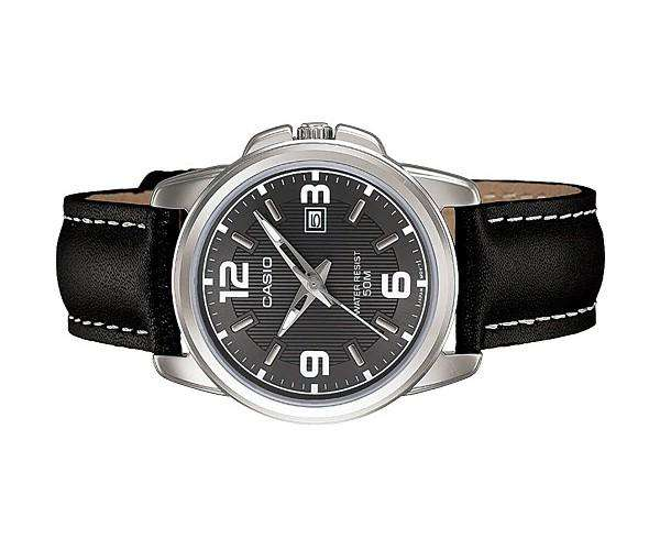 Casio LTP-1314L-8AVDF Black Leather Strap Watch for Women