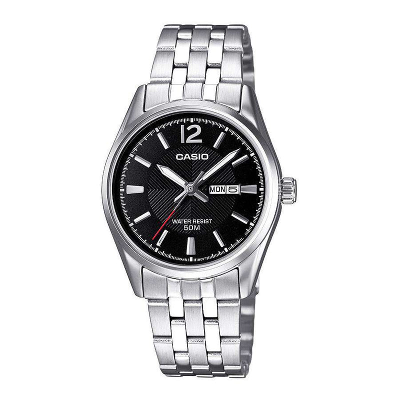 Casio LTP-1335D-1AVDF Silver Stainless Steel Strap Watch for Women