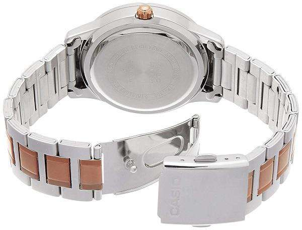 Casio LTP-1359RG-7AVDF Two Tone Stainless Steel Strap Watch for Women