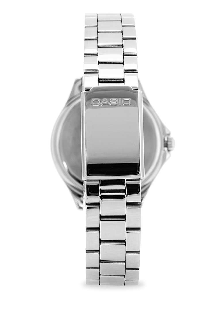 Casio LTP-E129D-2A Silver Stainless Steel Strap Watch for Women