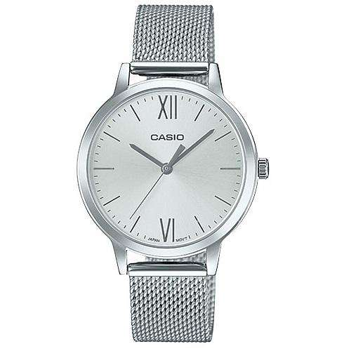 Casio LTP-E157M-7ADF Silver Stainless Strap Watch for Women