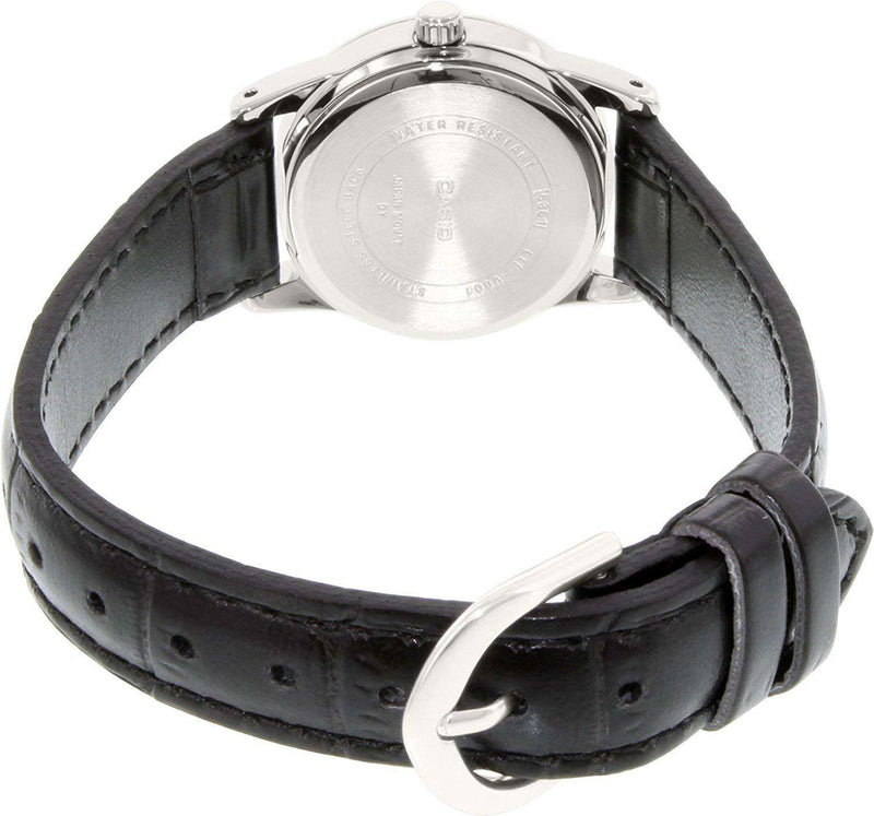 Casio LTP-V001L-7B Black Leather Watch for Women