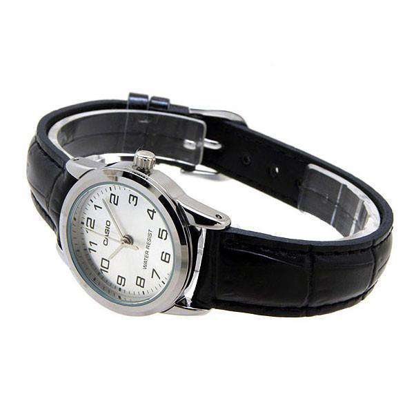 Casio LTP-V001L-7B Black Leather Watch for Women - Watchportal Philippines