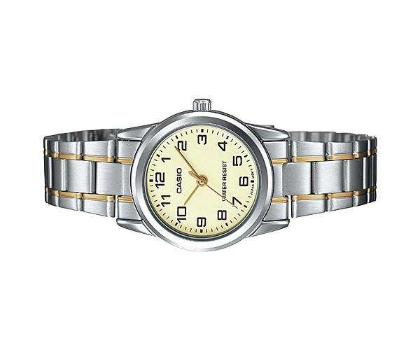 Casio LTP-V001SG-9B Two-tone Stainless Steel Watch for Women