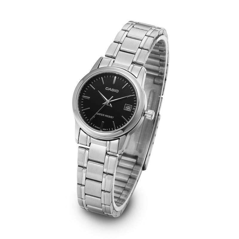 Casio LTP-V002D-1A Silver Stainless Steel Strap Watch for Women