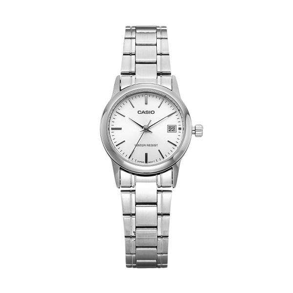 Casio LTP-V002D-7A Silver Stainless Steel Strap Watch for Women