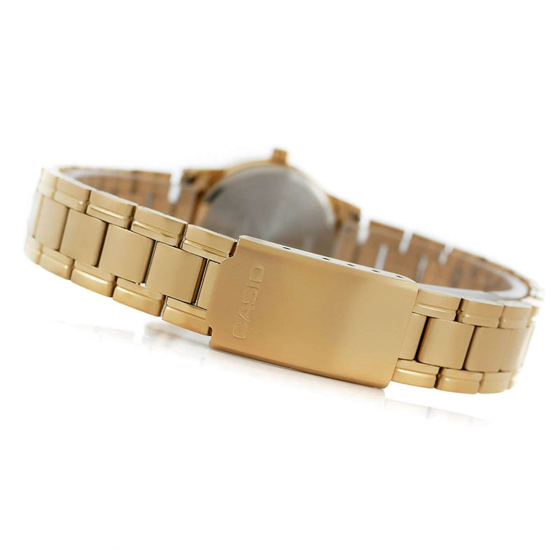 Casio LTP-V002G-7B Gold Stainless Steel Strap Watch for Women