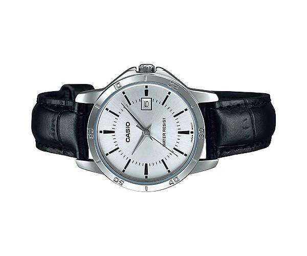 Casio LTP-V004L-7A Black Leather Strap Watch for Women