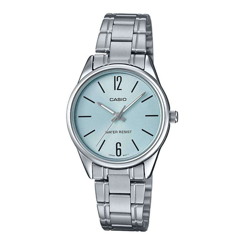 Casio LTP-V005D-2B Silver Stainless Steel Strap Watch for Women