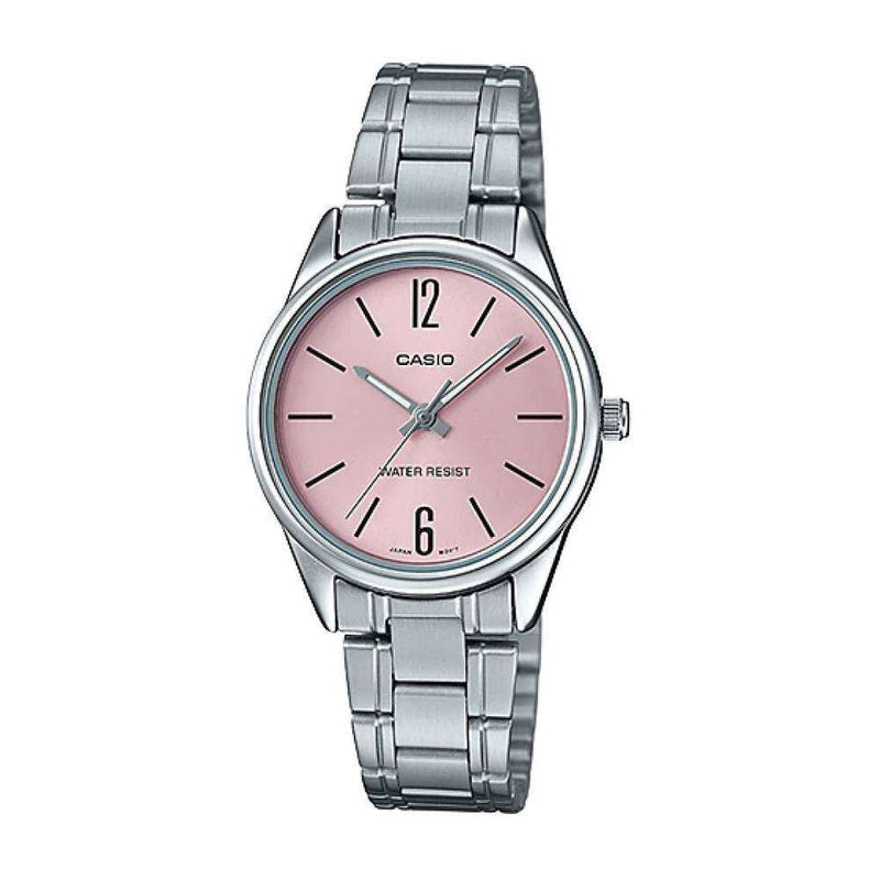 Casio LTP-V005D-4B Silver Stainless Steel Strap Watch for Women