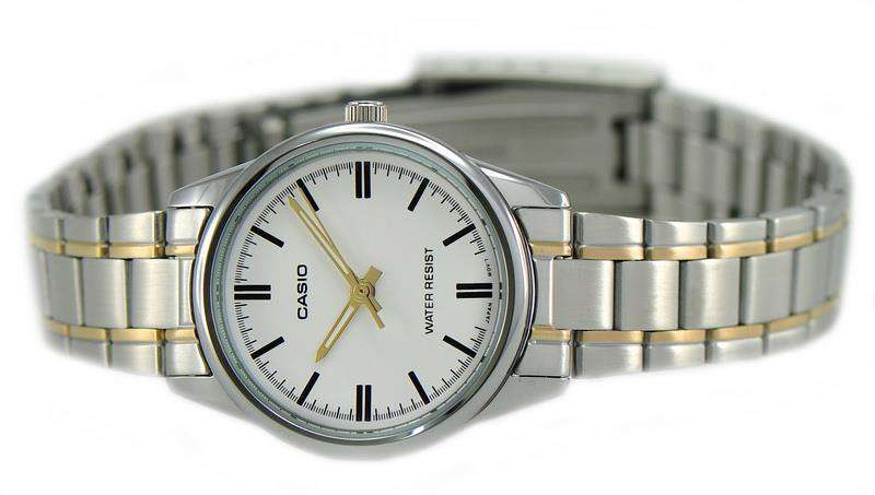 Casio LTP-V005SG-7A Two Tone Stainless Steel Strap Watch for Women