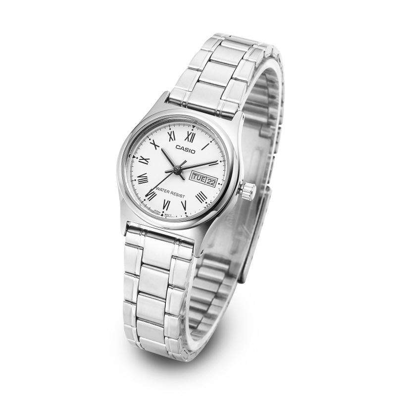 Casio LTP-V006D-7B Silver Stainless Steel Strap Watch for Women