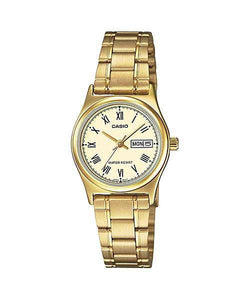 Casio LTP-V006G-9B Gold Stainless Steel Strap Watch for Women