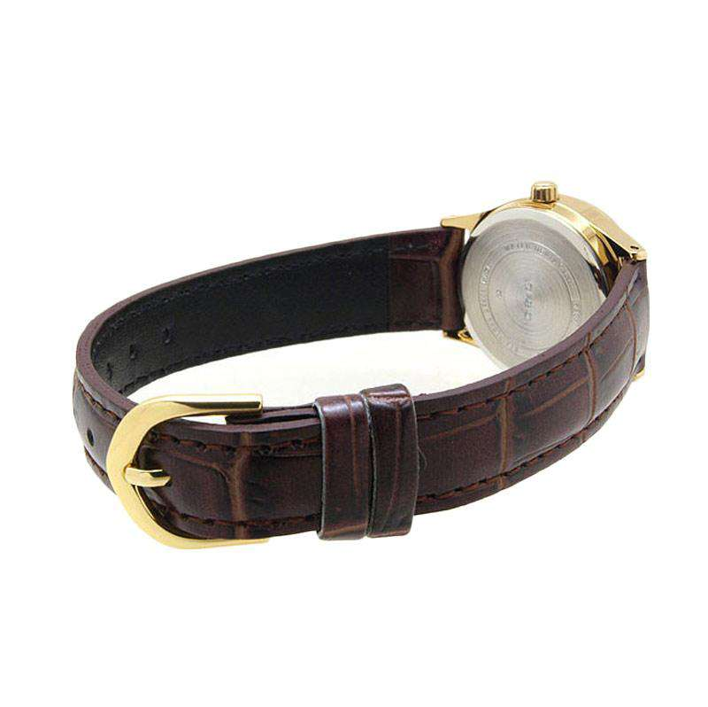 Casio LTP-V006GL-9B Brown Leather Strap Watch for Women