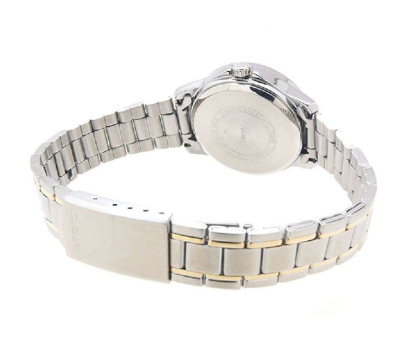 Casio LTP-V006SG-9B Two Tone Stainless Watch for Women