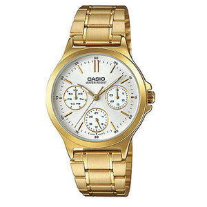 Casio LTP-V300G-7A Gold Plated Strap Watch for Women