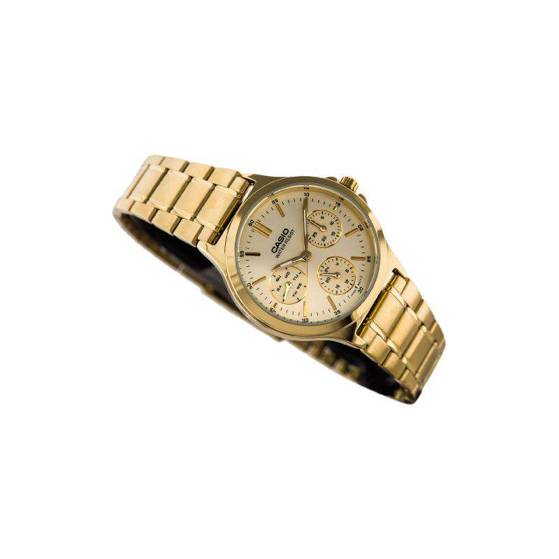 Casio LTP-V300G-9A Gold Plated Strap Watch for Women