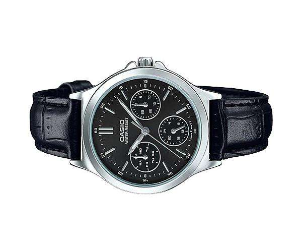 Casio LTP-V300L-1A Black Leather Strap Watch for Men and Women