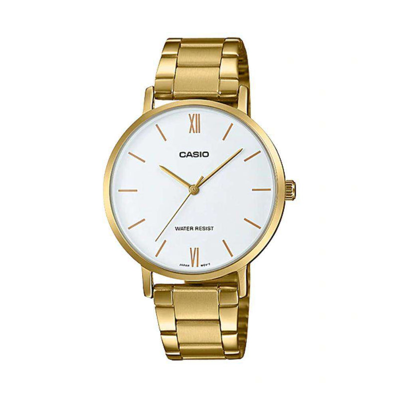 Casio LTP-VT01G-7B Gold Stainless Strap for Women
