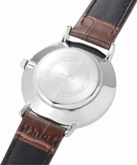 Casio LTP-VT01L-2B Brown Leather Strap Watch for Women