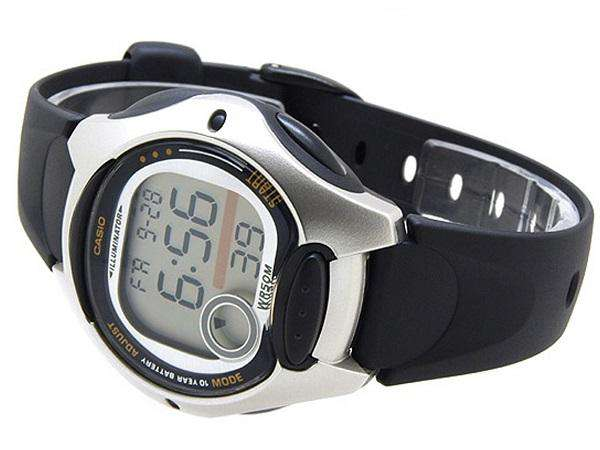 Casio LW-200-1AVDF Black Resin Strap Watch for Women