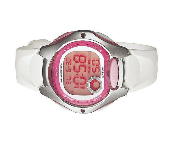 Casio LW-200-7A W White/Pink Resin Watch for Women