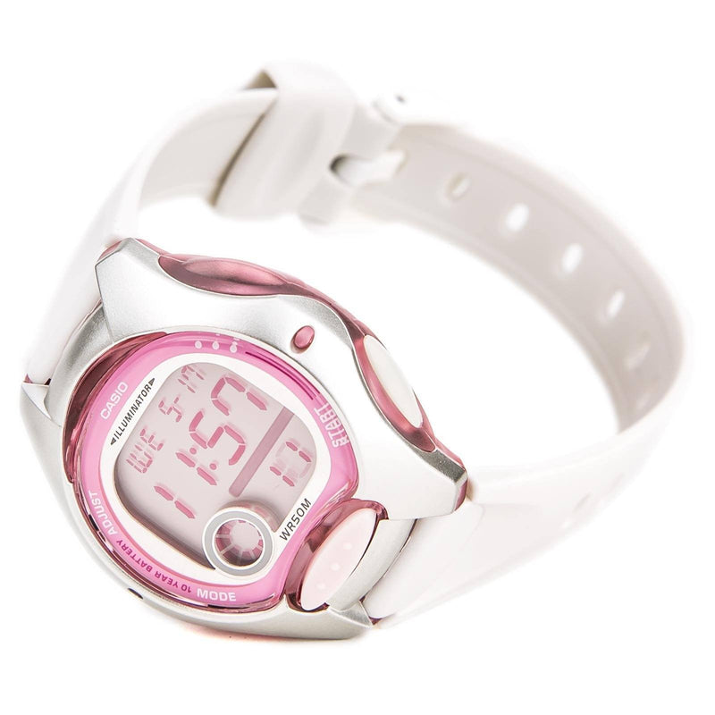 Casio Standard Women's White/Pink Resin Strap Watch- LW-200-7A W - Watchportal Philippines