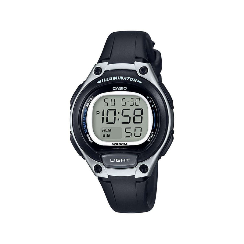 Casio LW-203-1AVDF Digital Black Resin Strap Watch for Women
